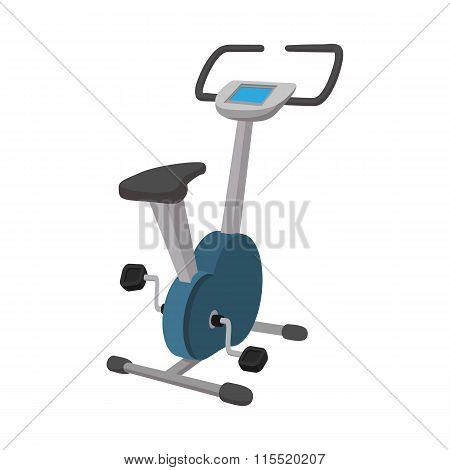Exercise bike cartoon icon