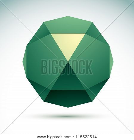 Abstract Vector 3D Geometric green Object,