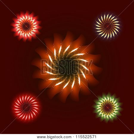 Firework ornament set