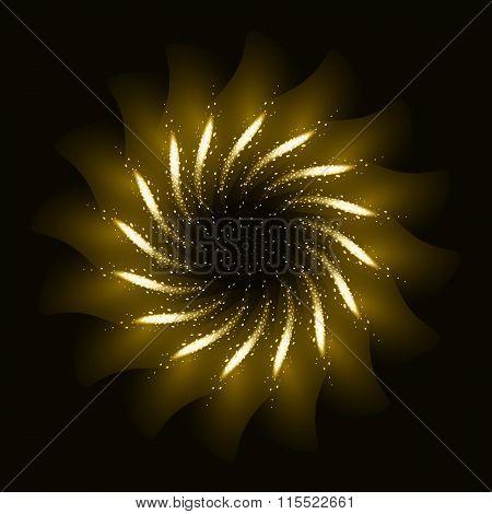 Firework ornament illustration