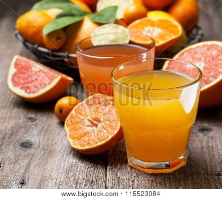 Citrus Juices And Fresh Citrus Fruit