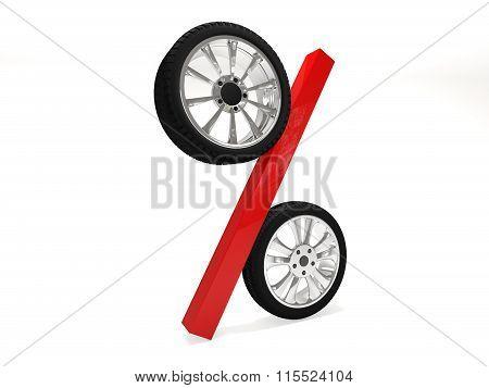 Car wheel sale 3d rendering