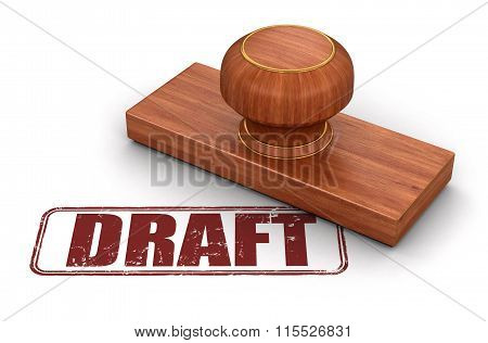 Stamp draft.  Image with clipping path