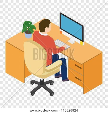 Isometric people at the workplace