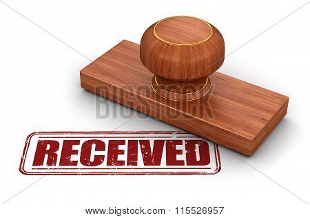 Stamp Received.  Image with clipping path