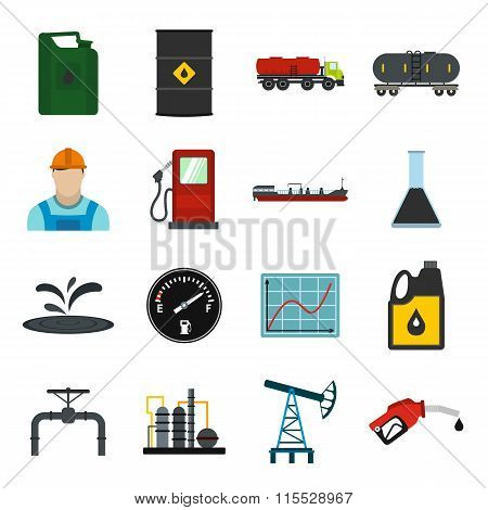 Oil industry flat icons set. Oil industry icons. Oil industry icons vector. Oil industry icons illustration. Oil industry icons art. Oil industry icons collection. Oil industry icons set