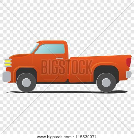 Pickup - cartoon car illustration