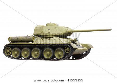 Model Of Soviet Tank