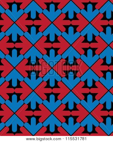 Bright Abstract Seamless Pattern With Arrows. Vector backdrop With Arrowheads. Endless Decorative