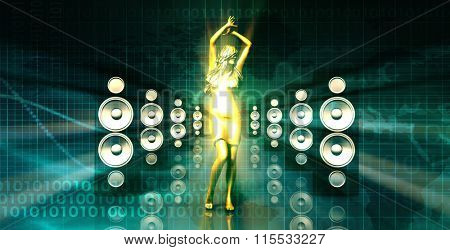 Abstract Music Dance Background for a Music Event