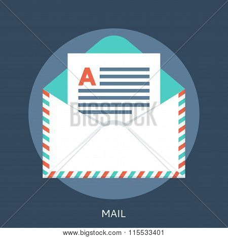 Postal Envelope With The Letter