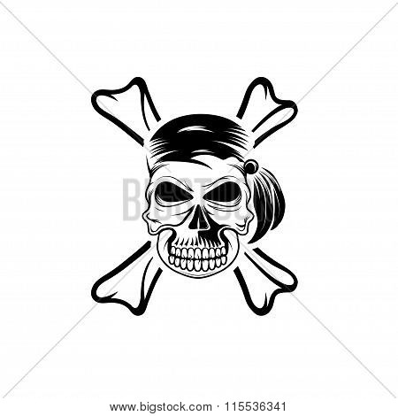 Pirate Skull With Bones