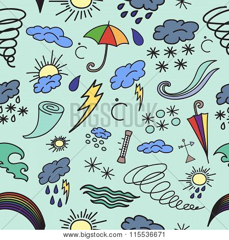 Doodle patern weather
