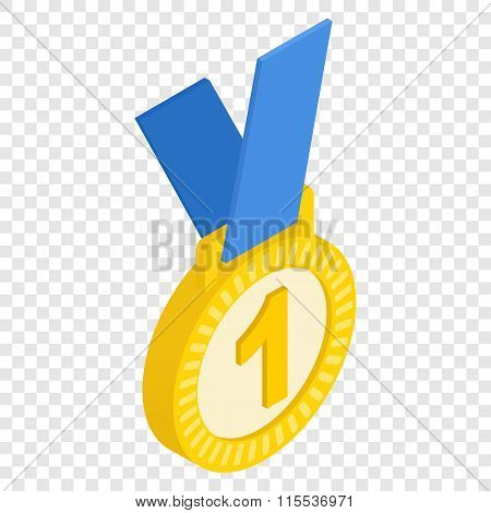 First place medal isometric icon