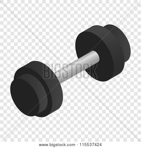 Dumbbell isometric 3d icon