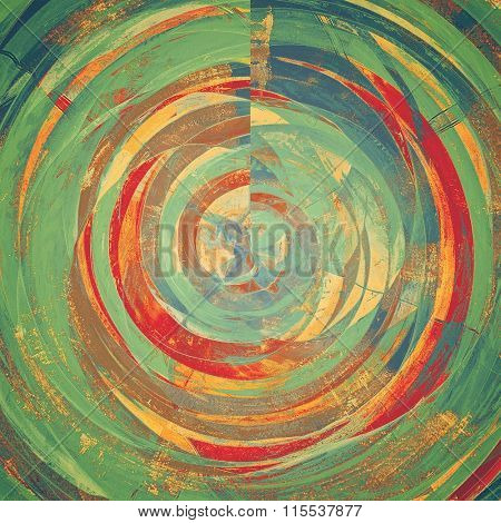 Old Texture or Background. With different color patterns: yellow (beige); brown; blue; green; red (orange)