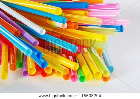 Multi Colorful Flexible Straws