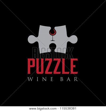 Puzzle Wine Bar Negative Space Concept