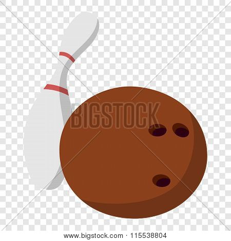 Bowling ball and skittle illustration