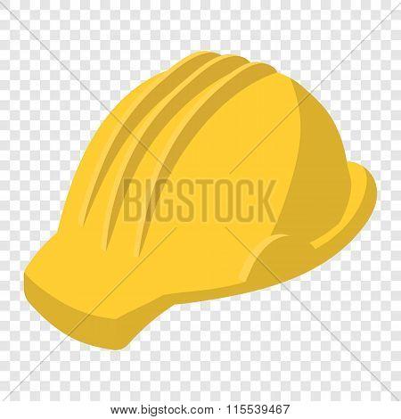 Yellow safety helmet cartoon illustration