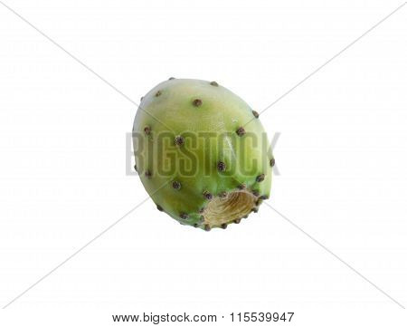 prickly pear to eat on a white background in the kitchen