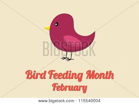 Poster For Bird Feeding Month (february)
