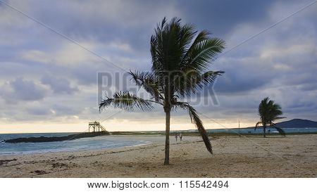 Puerto Villamil, Ecuador - November 20, 2015: The Storm Over The