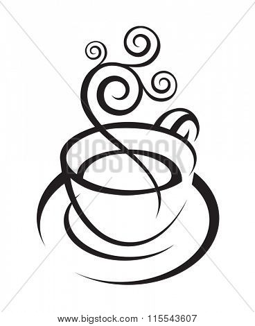 illustration of coffee cup with steam