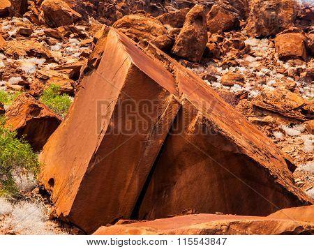 Geometric rock formation in Twyfelfontein area