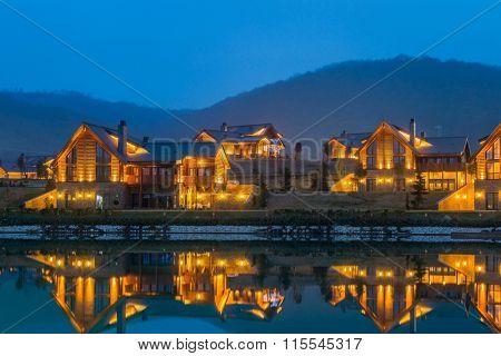 Quba - MARCH 26, 2015: Quba Rixos Hotel on March 26 in Azerbaijan, Quba. Quba Rixos Hotel is luxury hotel in northern Azerbaijan