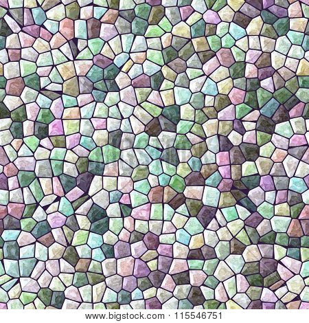 Pastel Full Color Marble Irregular Stony Mosaic Seamless Pattern Texture Background
