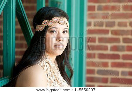 Attractive Teen Girl Looking At Camera