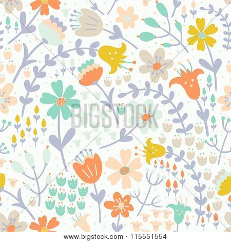Elegant floral seamless pattern. Vector texture