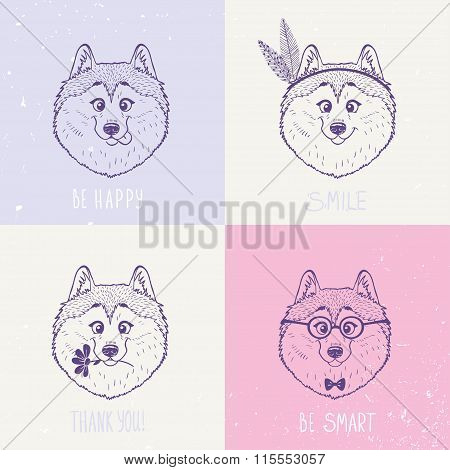 Dog Husky art