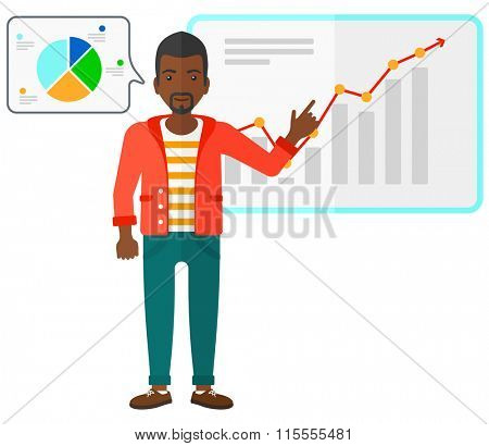 Businessman presenting report.