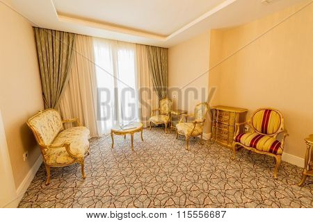 Room interior with modern furniture