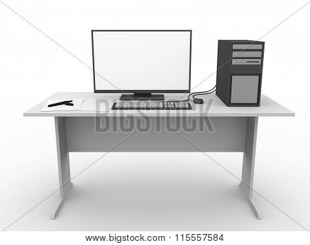 Modern Workplace With Computer