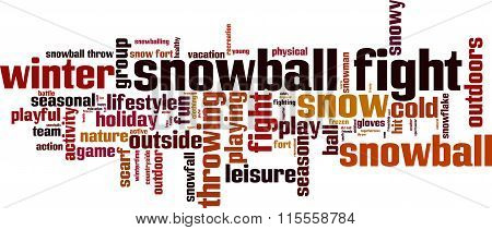 Snowball Fight Word Cloud