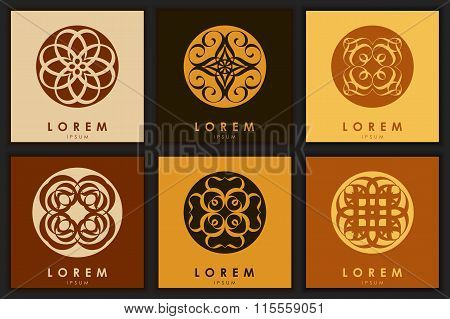 Set Of Six Abstract Logo Template