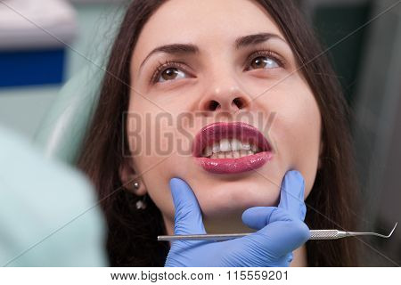 Young Girl Having Dental Check Up
