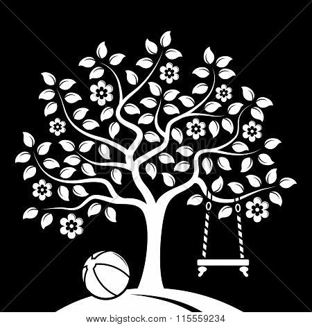 Flowering Tree With Swing And Ball