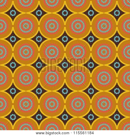 African Ethno Abstract Seamless Pattern With Decorative Folk Elements Background