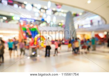 Abstract Blur Or Defocus Background Of Amusement Fun Park