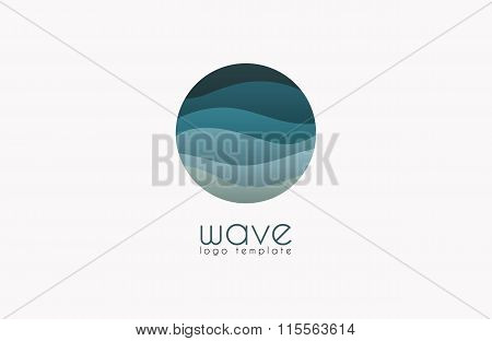 Wave logo. Business Icon. Blue logo. Company logo