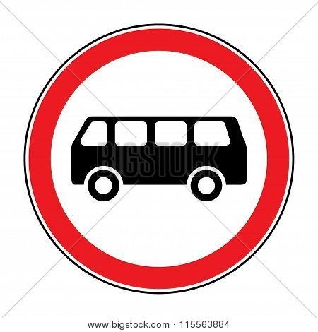 No Bus Sign