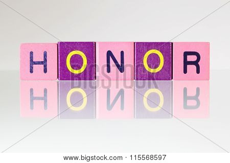 Honor - An Inscription From Children's Blocks