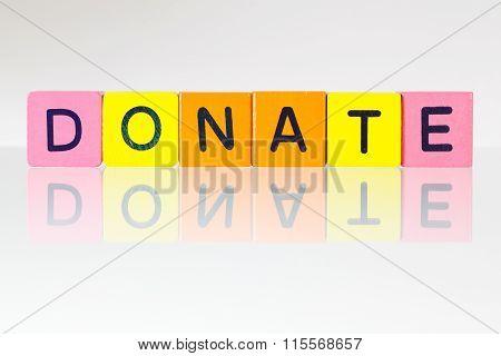 Donate - An Inscription From Children's Blocks