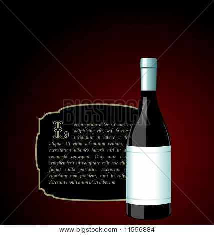 Illustration The Elite Wine Bottle With White Blank Label