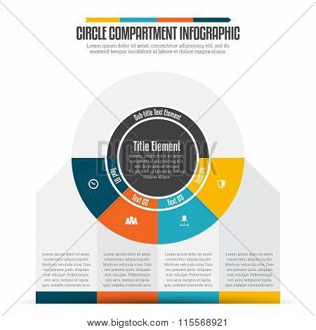 Circle Compartment Infographic