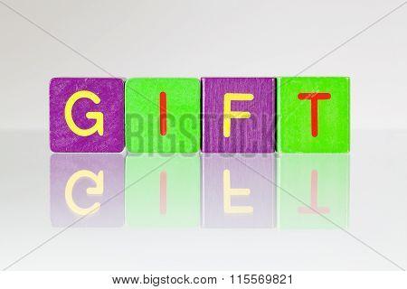 Gift - An Inscription From Children's Blocks